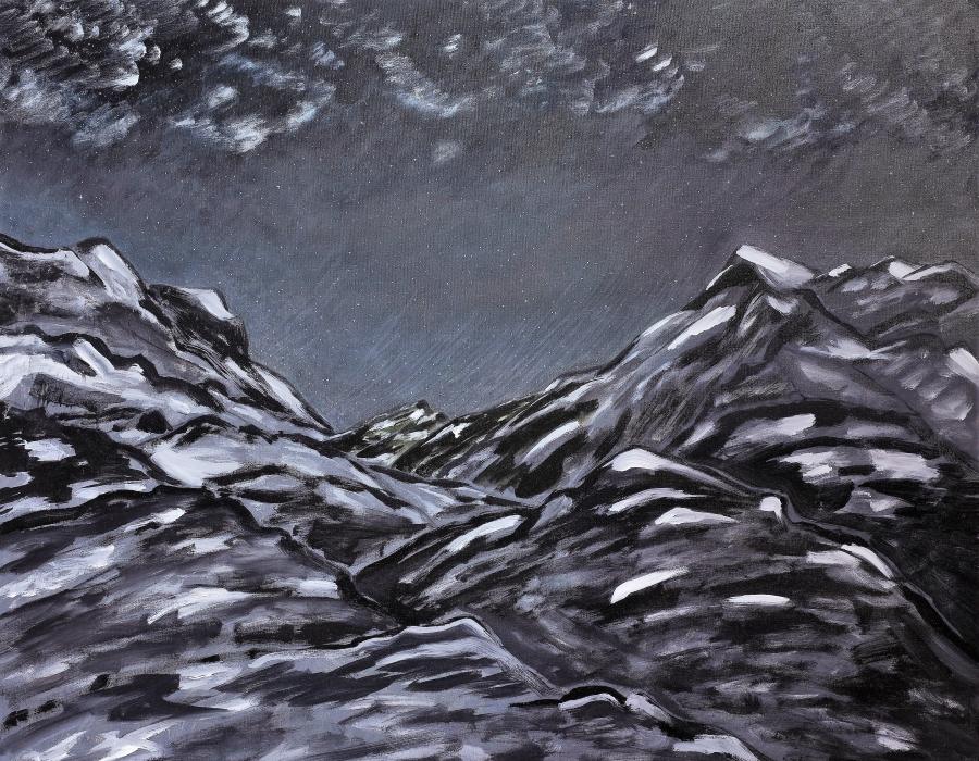 Schwarze Landschaft (Nacht)