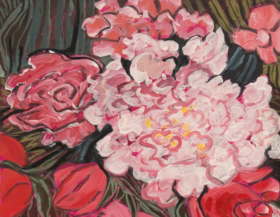 Päonien und Rosen 1-3