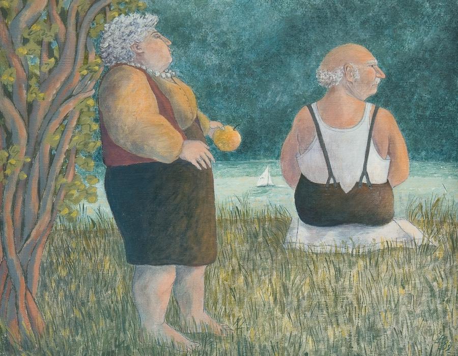 Adam und Eva am See