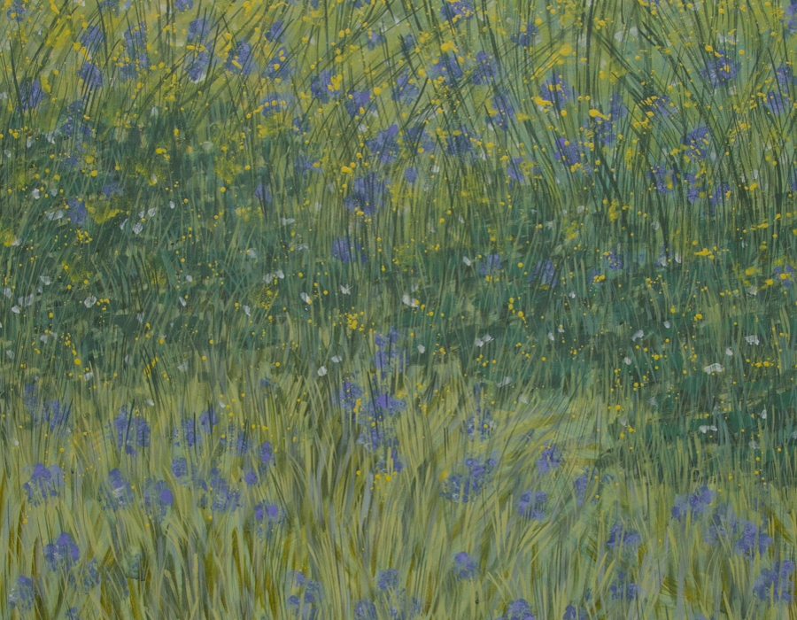 Blaue Wiese